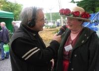 Blumenverkäuferin Ingrid
